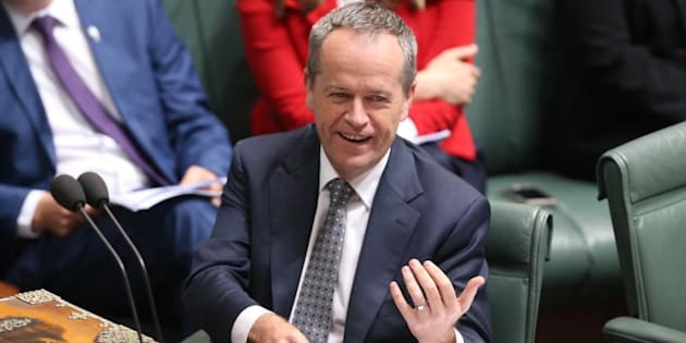 Opposition Leader Bill Shorten in parliament