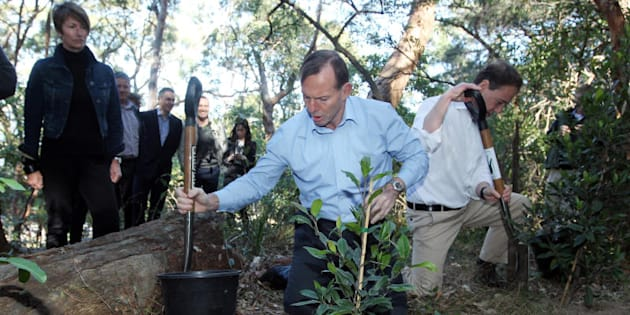 Then Prime Minister Tony Abbott launches the Green Army initiative in August 2014.