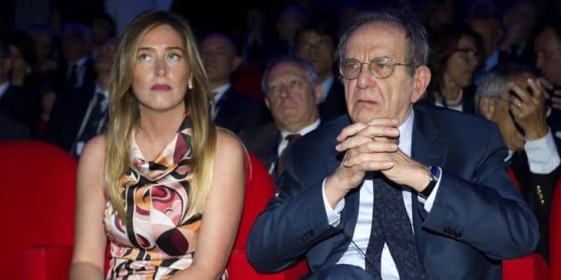 Nella foto Maria Elena Boschi e Pier Carlo Padoan