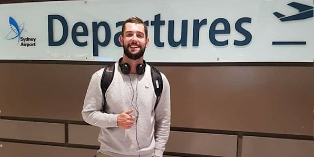 Baxter Reid, 26, was detained while trying to get into Canada to fulfill his visa conditions.