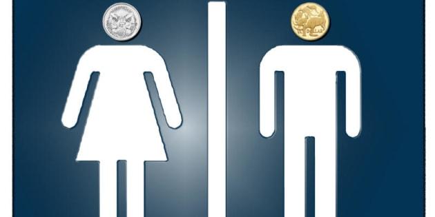 Gender pay gap. Women earn 77 percent of men's average full-time income.