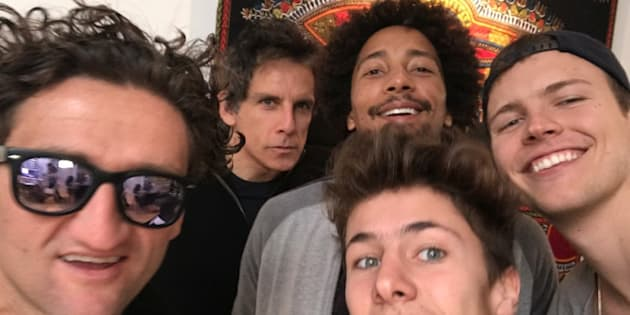 Jérôme Jarre (right) kicked off the social media campaign to send a Turkish Airlines plane with food to Somalia. He's been backed up by Casey Neistat, Ben Stiller, Chakabars and Juanpa Zurita (left to right).