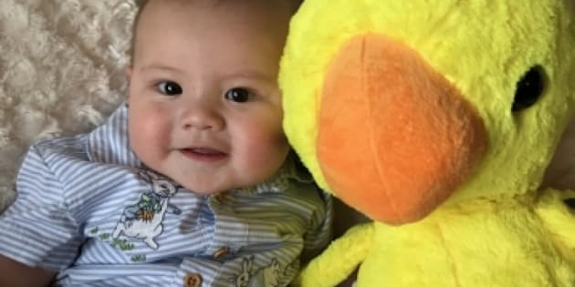 Hunter, a five-month-old baby, was killed in an Edmonton fire last week. Police have arrested two people in connection to the fire.