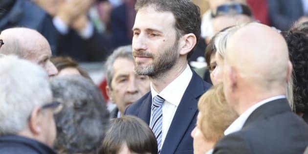 14/04/2016, Milano, funerali di Gianroberto Casaleggio. Nella foto Davide Casaleggio