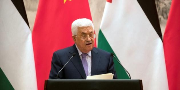 El presidente palestino Mahmud Abbas, el pasado martes en Pekín (China).
