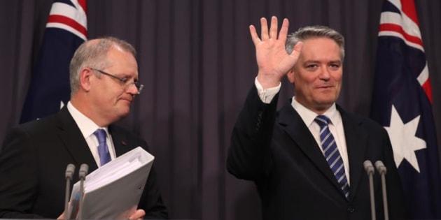 Graphs break down the work of Treasurer Scott Morrison and Finance Minister Mathias Cormann.