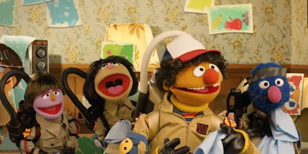 Sesame Street parodies Stranger Things with Cookiegorgon