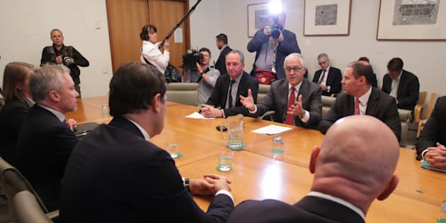 Round one: Prime Minister Malcolm Turnbull first met energy retail chiefs at Parliament House three weeks ago.