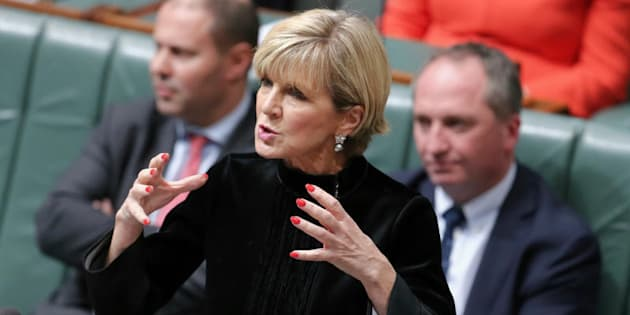 "Julie Bishop: ""Is Bill Shorten directing his troops to ask questions in other parliaments around the world?"""