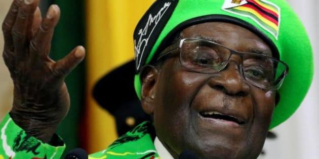 Robert Mugabe, el actual presidente de Zimbabue, en una imagen tomada en Harare el pasado octubre.