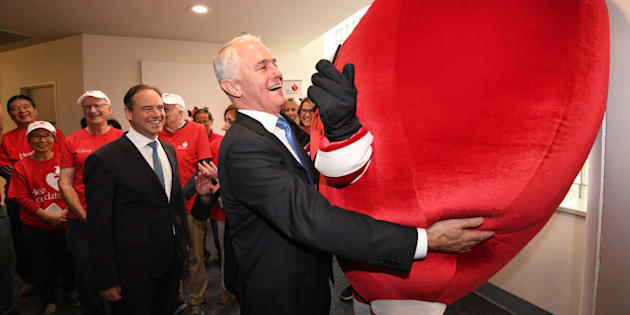 PM Malcolm Turnbull with.. wait. That's not Lucy.