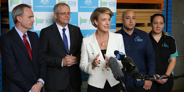The national launch of the PaTH employment program with Scott Morrison, Michaelia Cash and David Coleman.