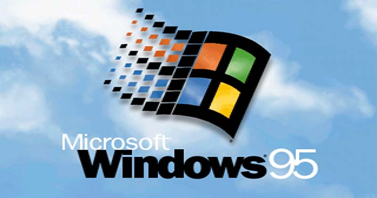 Windows 95 returns to an application that is available on