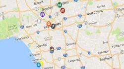 La carte du Los Angeles de