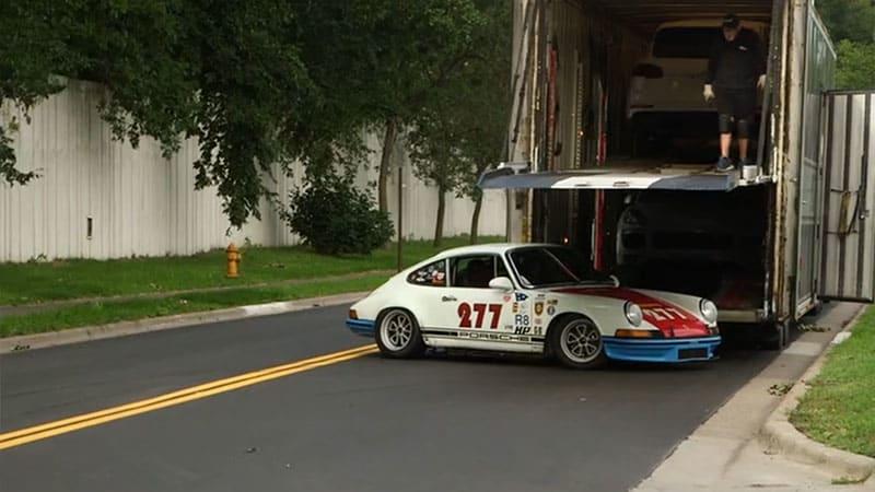 Magnus Walker crashes vintage Porsche with reporter inside
