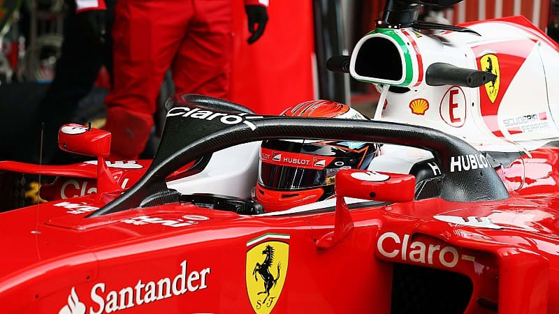 & Raikkonen tests F1 Halo cockpit system - Autoblog