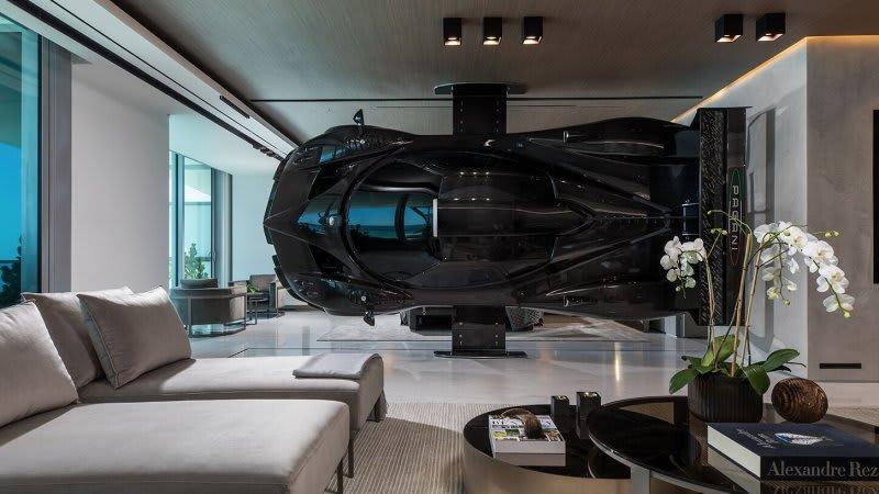 Miami condo uses a $1.5 million Pagani Zonda R as a room divider ...