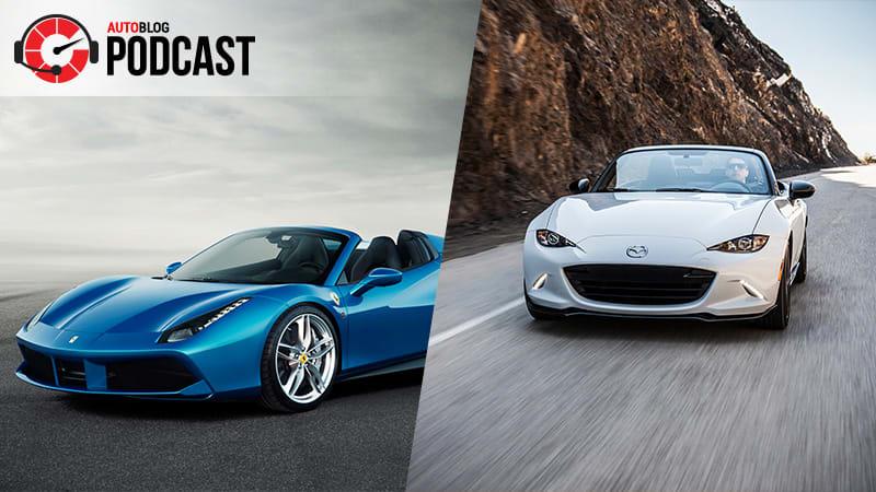 Debating The Ferrari Spider And The Best Mazda Miata - Really hot cars