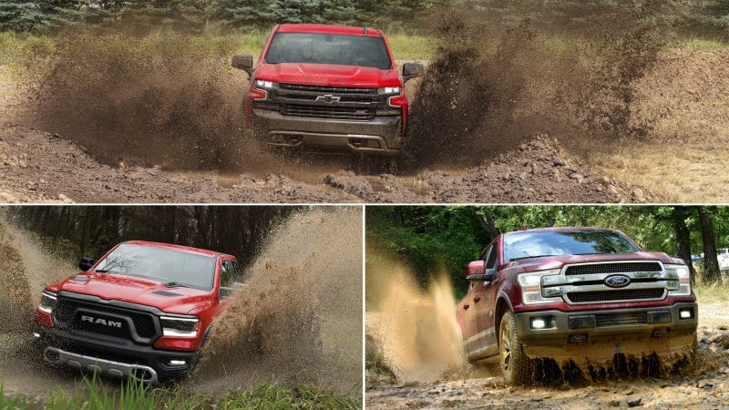 chevy silverado    ram    ford     compare diesel bombers