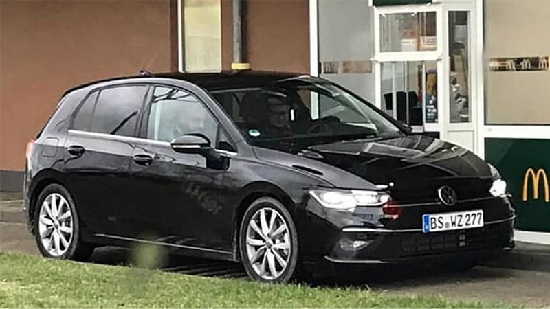 Mk8 VW Golf caught uncovered in Germany