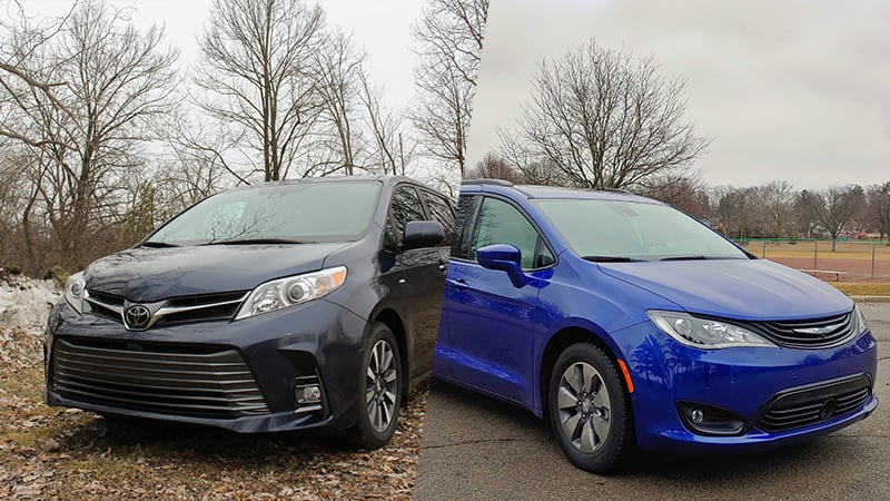 2019 Toyota Sienna AWD vs 2018 Chrysler Pacifica Hybrid | New meets old