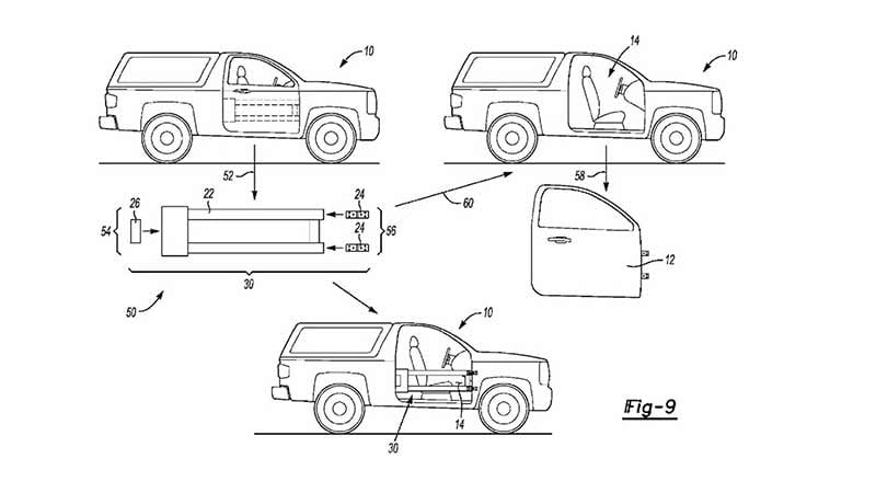 Ford Bronco patents? Two designs for removable doors