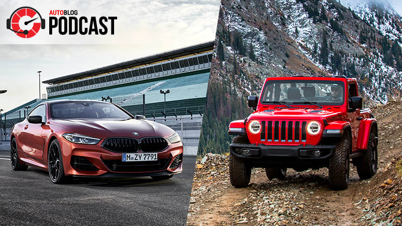 BMW M850i Coupe, Jeep Wrangler Rubicon and a 1996 Toyota Land Cruiser | Autoblog Podcast #585