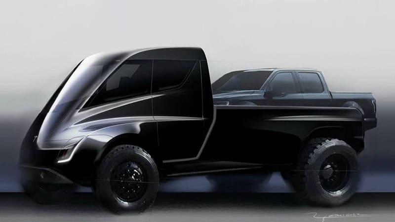 Tesla Pickup Truck Teased Autoblog