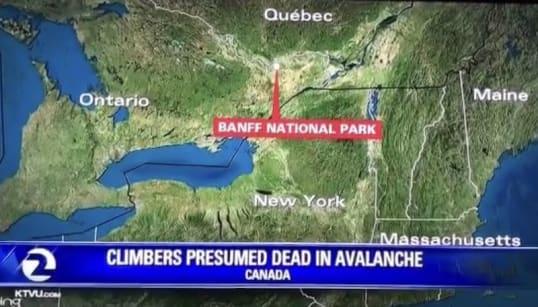 Dear Americans, Banff Is Not Near