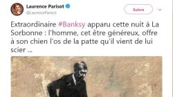 La dernière œuvre de Banksy emballe Laurence Parisot, mais elle n'y voit pas la même chose que