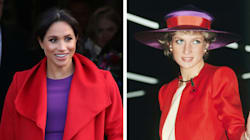 Meghan Markle Channelled Princess Diana's Style With Red-And-Purple