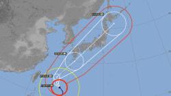 台風24号、10月1日未明に東京に最接近か