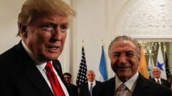 Em jantar com Michel Temer, Trump cobra 'democracia' na