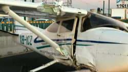 Avioneta aterriza de emergencia en Toluca; investigan