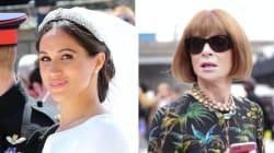 Anna Wintour por fin opinó sobre el vestido de boda de Meghan