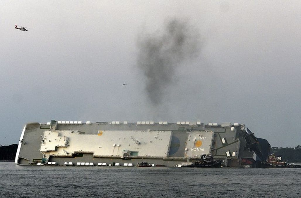 Rescuers make contact with missing crew members aboard fiery