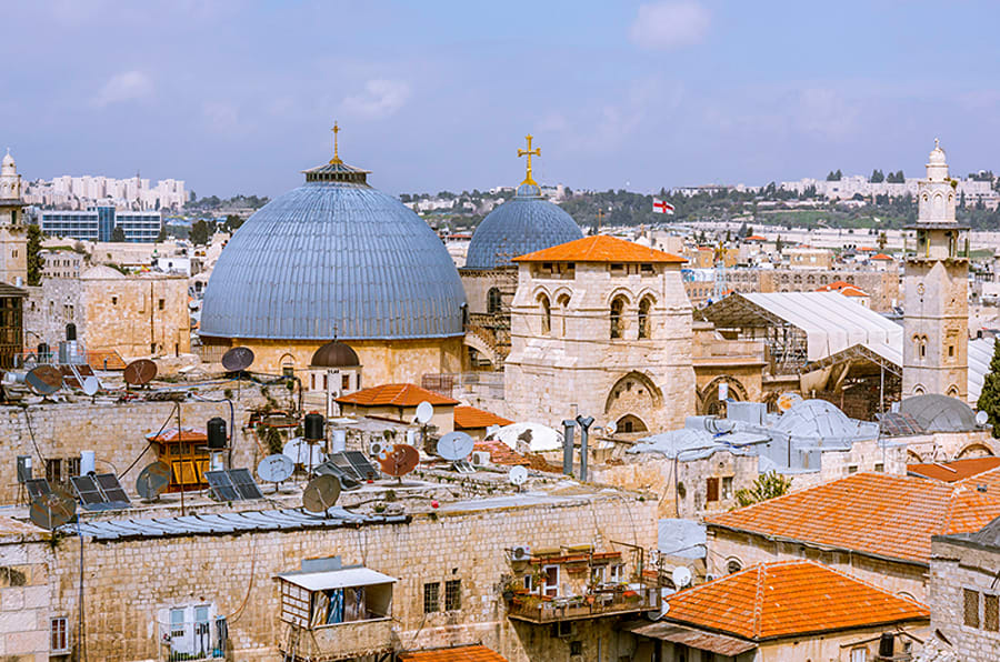 Two domes of the Holy Sepulchre.
