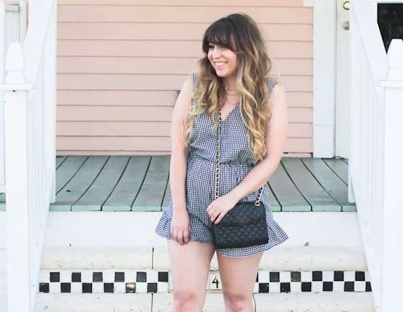 Street style tip of the day: Gingham romper