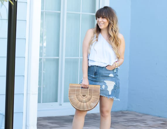 Street style tip of the day: One shoulder top