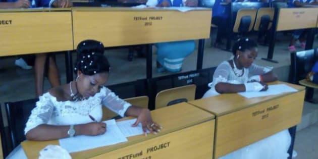 Ces deux jeunes filles quittent leurs mariage pour passer leurs examens