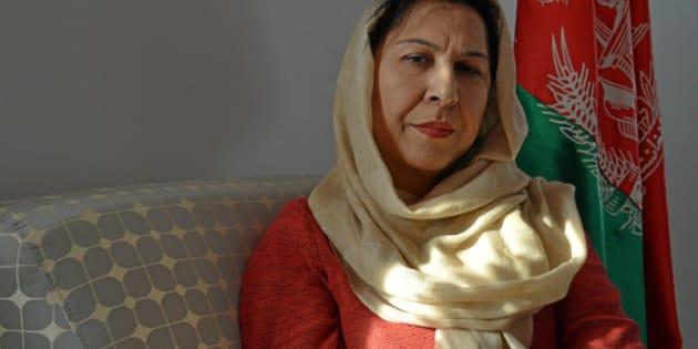 Afghanistan's envoy, Shinkai Karokhail at the Embassy of Afghanistan in Ottawa December 2016