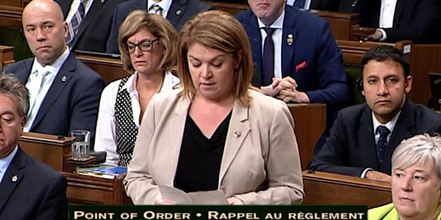 Sherry Romanado speaks in the House of Commons on Dec. 4, 2017.