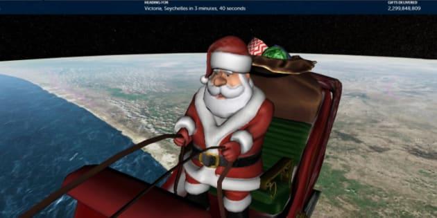 Le Père Noël a commencé sa tournée (et on peut la suivre en direct)