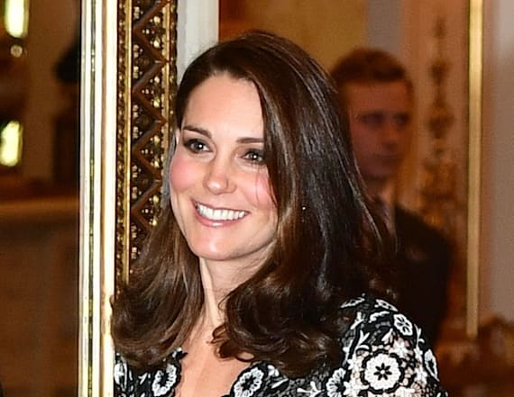 Duchess Kate dons lace Erdem dress for reception