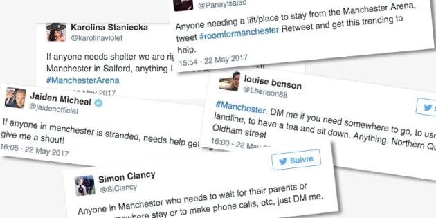 Les habitants de Manchester proposent aux fans sous le choc de les accueillir