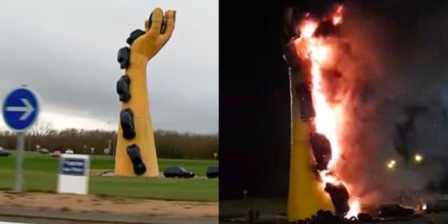 Châtellerault : réactions d'indignation après l'incendie de la Main Jaune