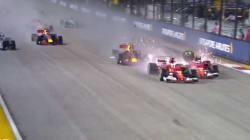 L'accident spectaculaire de Sebastian Vettel lors du départ du Grand Prix de
