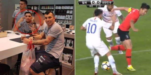 Le footballeur chilien Diego Valdes s'y reprendra à deux fois avant de se faire remarquer...