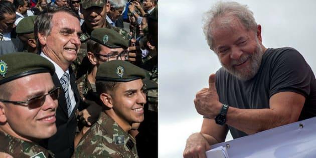 Jair Bolsonaro e PT de Lula são as duas opções de apoio do PR, que ainda não fechou questão.