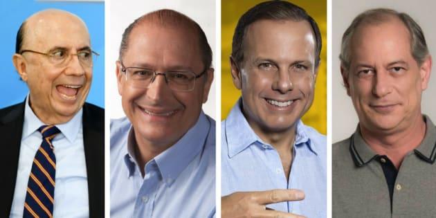 Henrique Meirelles, Geraldo Alckmin, João Doria e Ciro Gomes são campeões de reprovação.